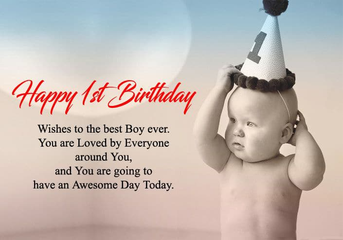1st Birthday Wishes For Baby Boy