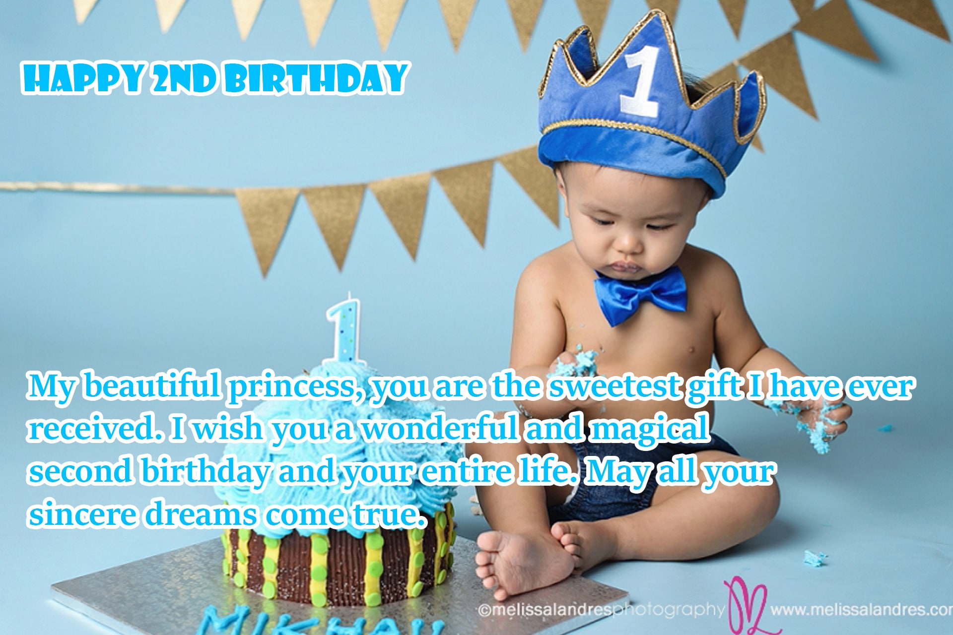 Happy 2nd Birthday Wishes For Baby Girl & Boy