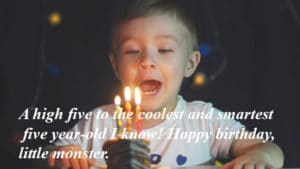 Happy 5th Birthday Wishes For Baby Girl & Baby Boy