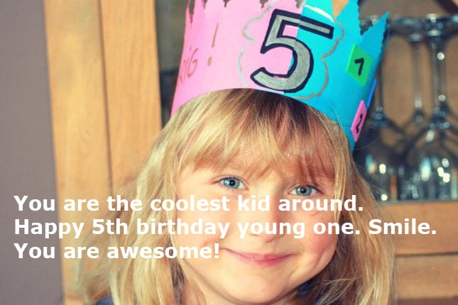Happy 5th Birthday Wishes For Daughter