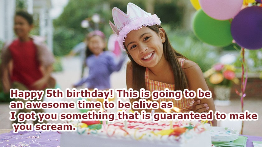 Happy 5th Birthday Wishes For girl