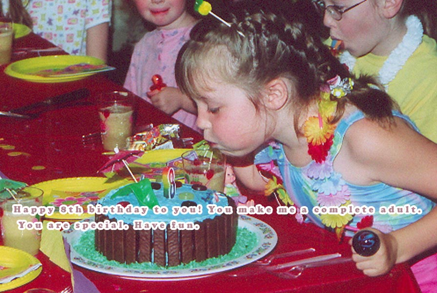 Happy Birthday wishes for 8th Year Old Girl