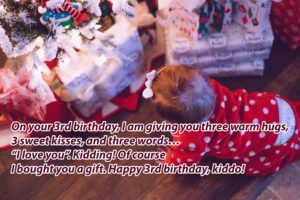 Happy 3rd Birthday Wishes For Baby Girl & Baby Boy