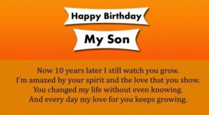 Happy 10th Birthday Wishes For Son