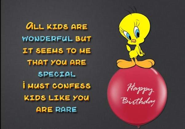 Happy Birthday Wishes For 9th Year Old Kids