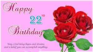 22nd Birthday Wishes love messages For Girl & Boy
