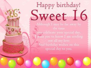 Happy Birthday wishes for 16 Year Old Girl