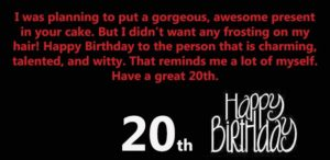 Happy 20th Birthday wishes for Brother