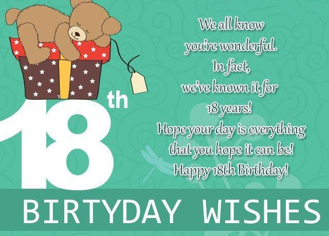 Happy 18th Birthday Wishes Messages Quotes