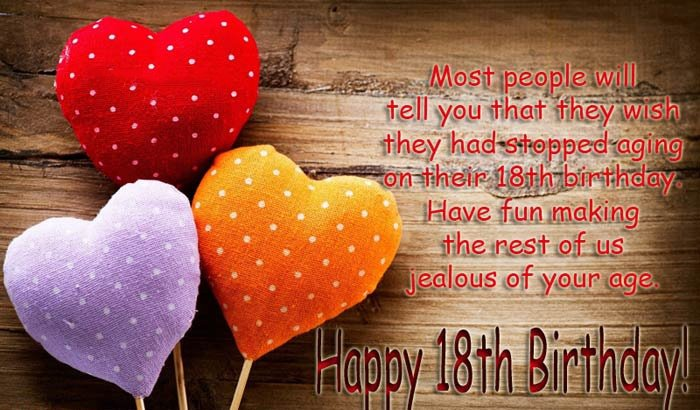 Top 100 Happy 18th Birthday Wishes For Girl Boy