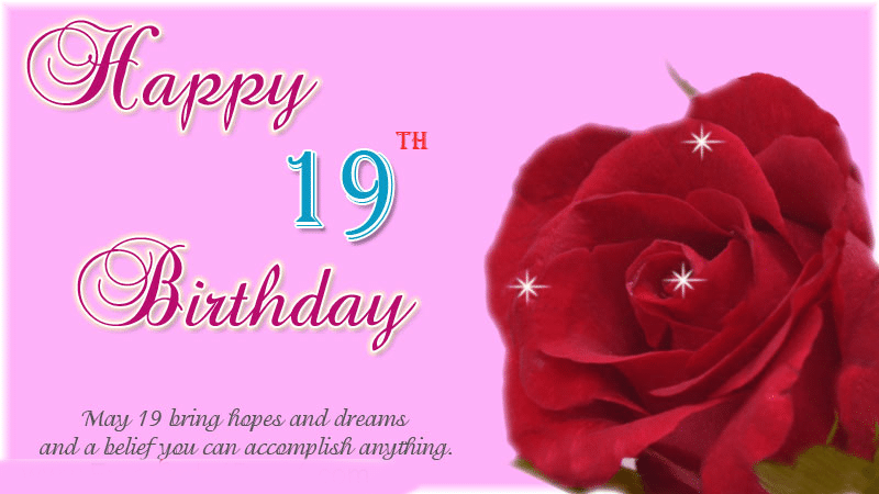 Happy 19th birthday wishes for Brother