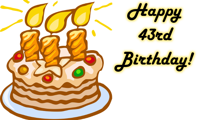 100 Happy 43rd Birthday Wishes Quotes, Love , Messages