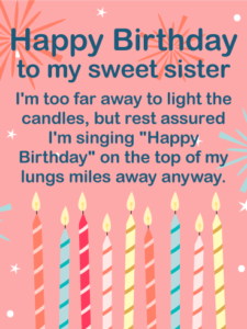 Happy 26th Birthday wishes for Sister