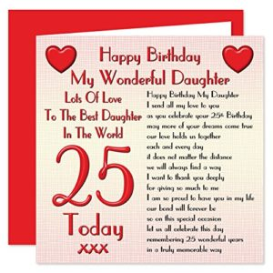 Happy 25th Birthday Wishes for daughter