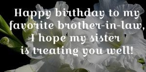 Happy birthday for brother in law