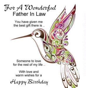 Happy birthday for father in law