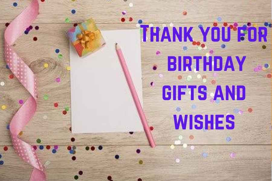101 Thoughtful Thank you Messages for Birthday Gift
