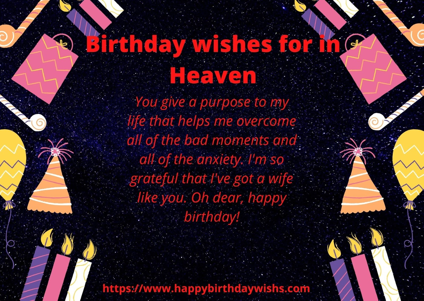 Wishes for in Heaven Wife