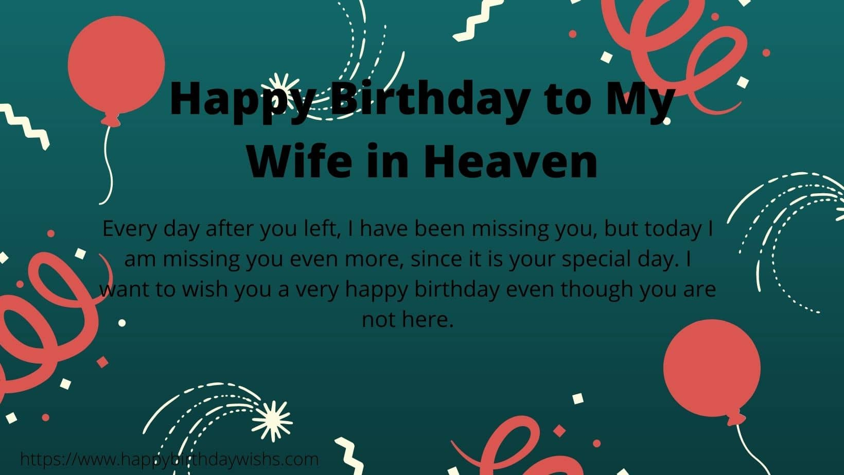 Birthday Message for wife in Heaven