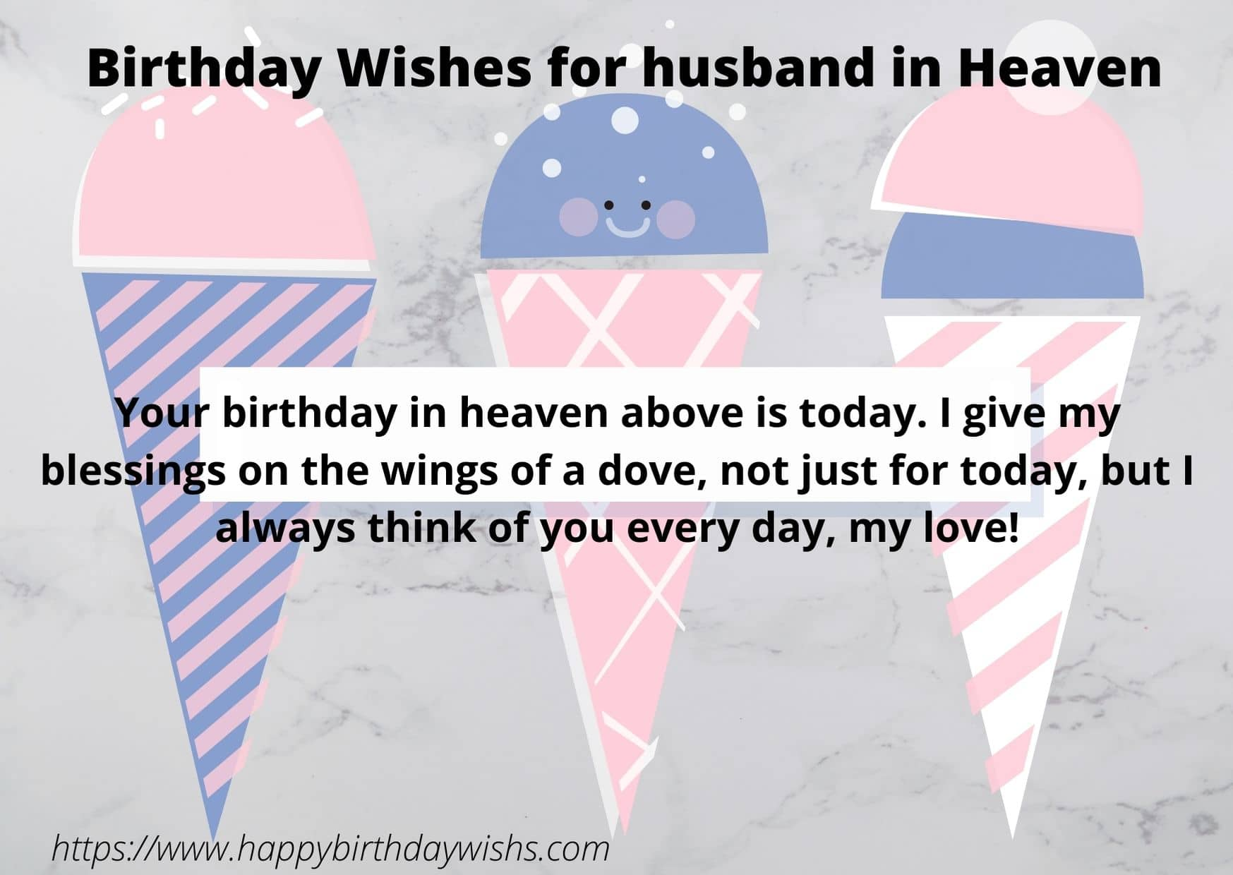 Happy birthday for husband in heaven