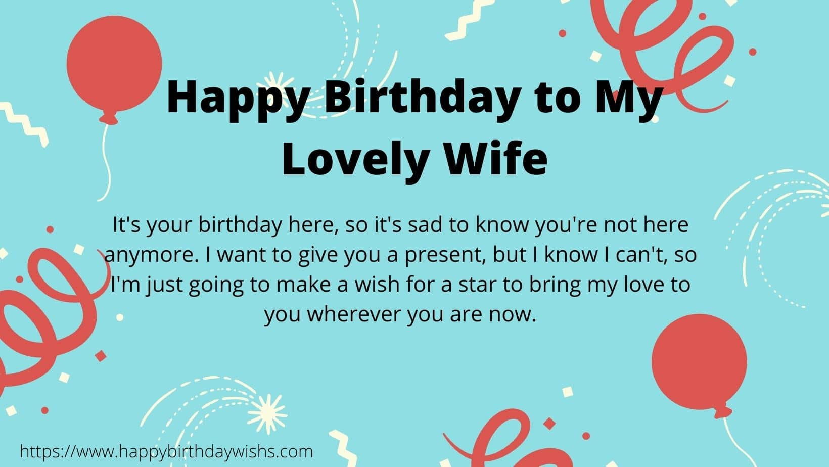 Birthday Wishes for wife in Heaven