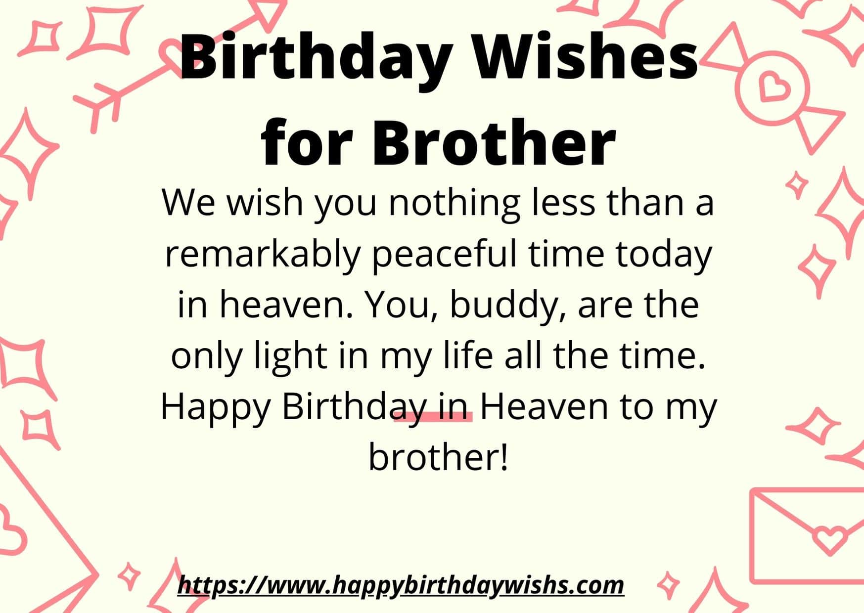 deceased brother happy birthday in heaven brother