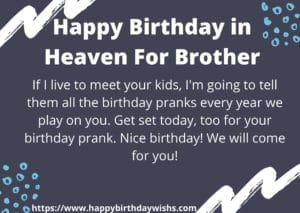 happy birthday in heaven brother poems