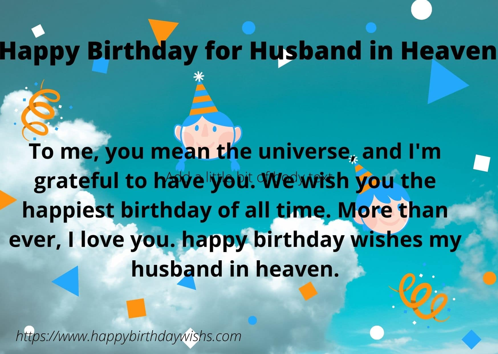 happy birthday wishes to my husband in heaven
