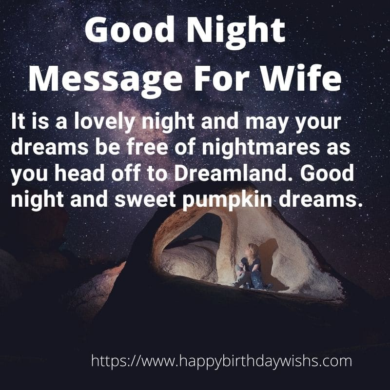 Romantic Love Good Night Message for Wife