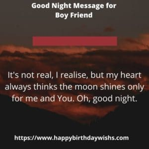 Good Night Quotes for Boy Friend