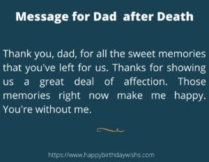Message for after death