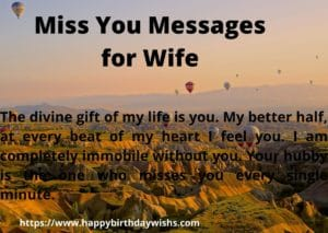 Miss You message for wife