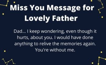 Miss you message for father