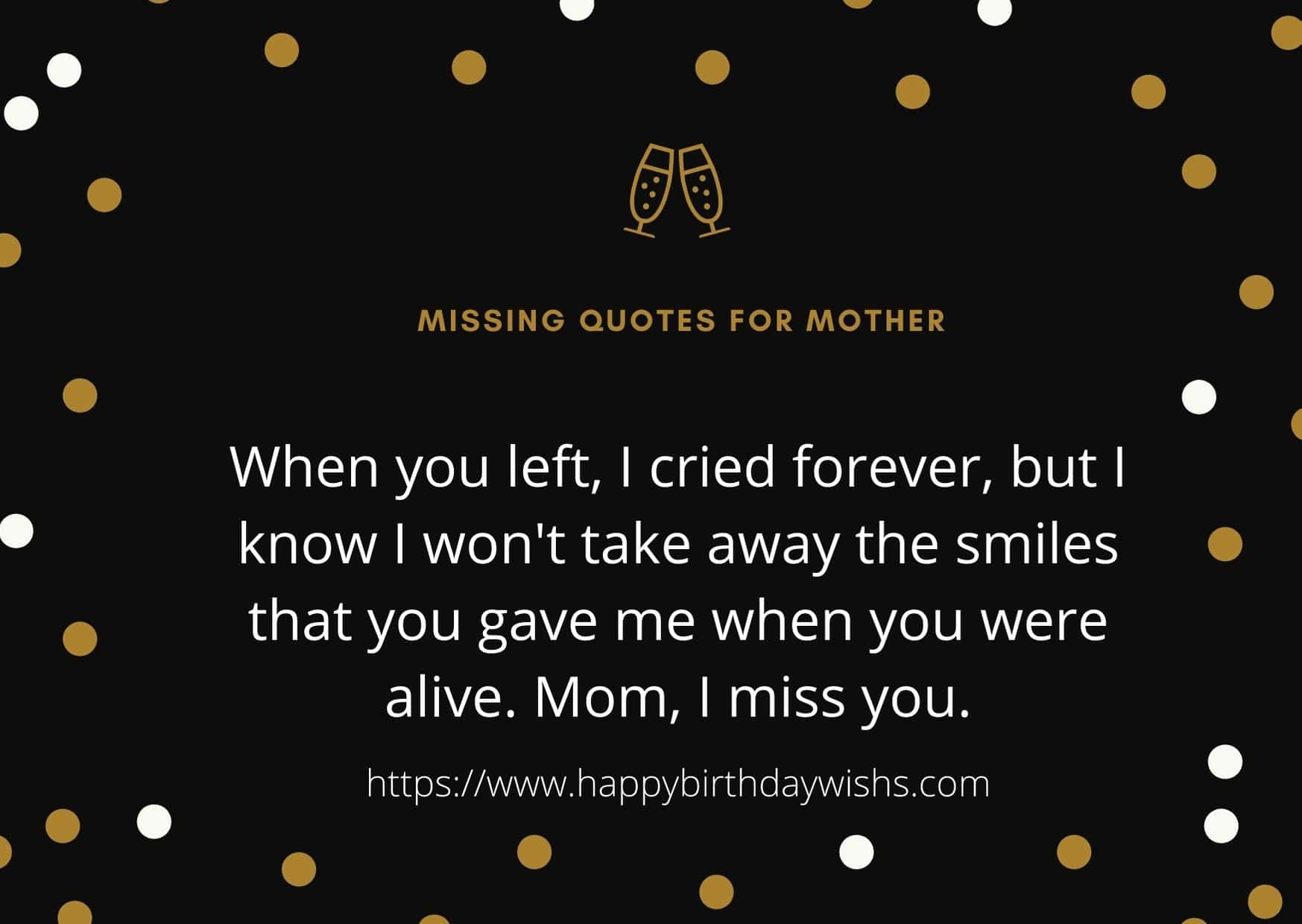 Missing Quotes for Mother