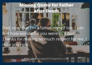 Missing msg for father