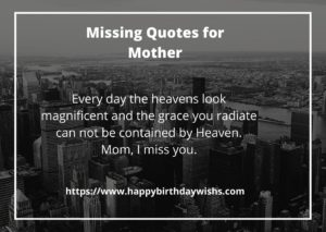 Missing sms for mother after death