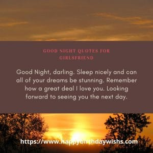 Good night message for lover