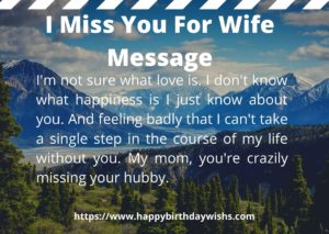 I Miss You Messages for Wife