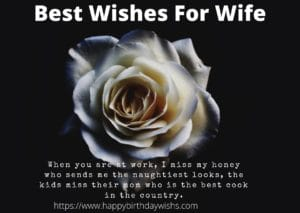 romantic message for wife